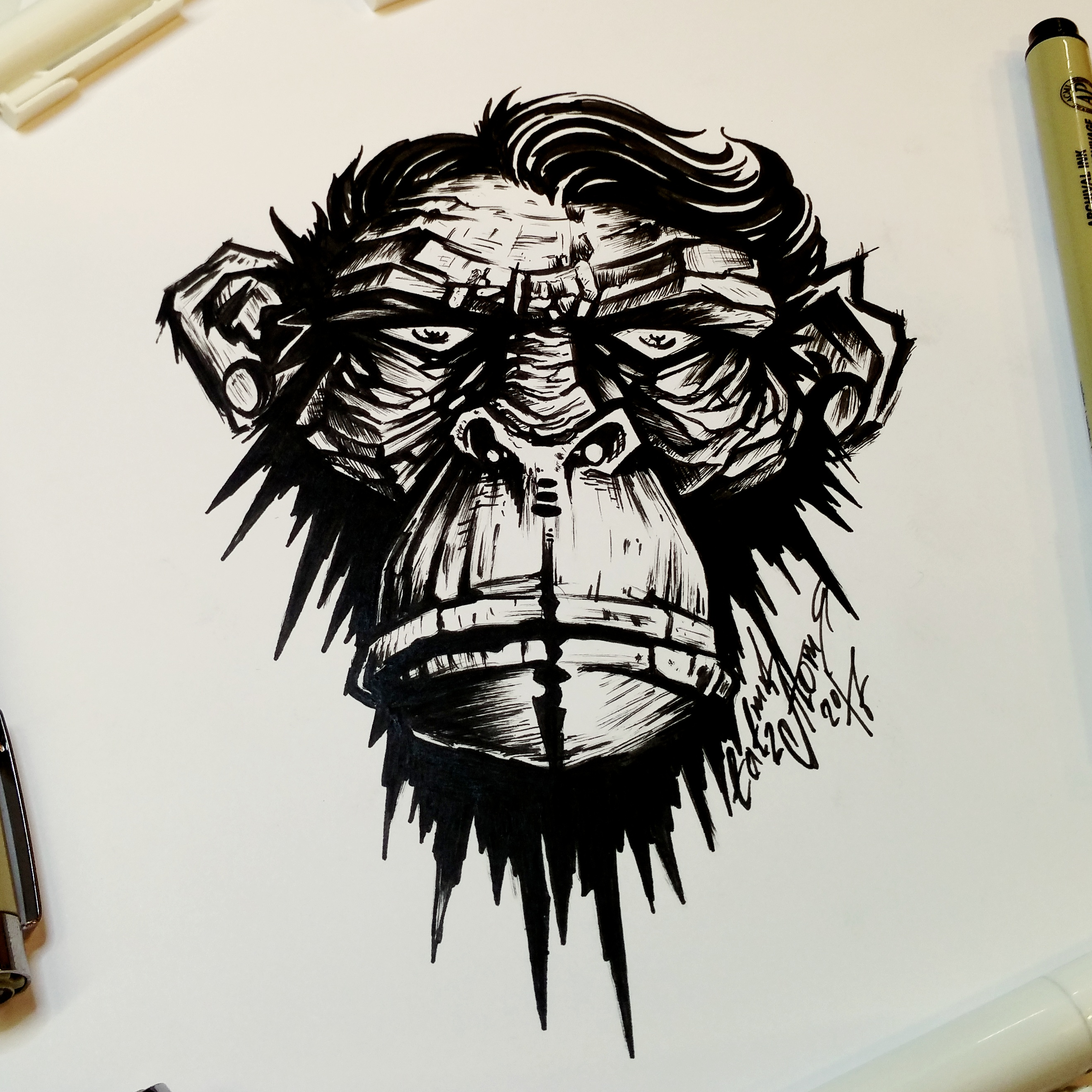 тату эскиз обезьяна