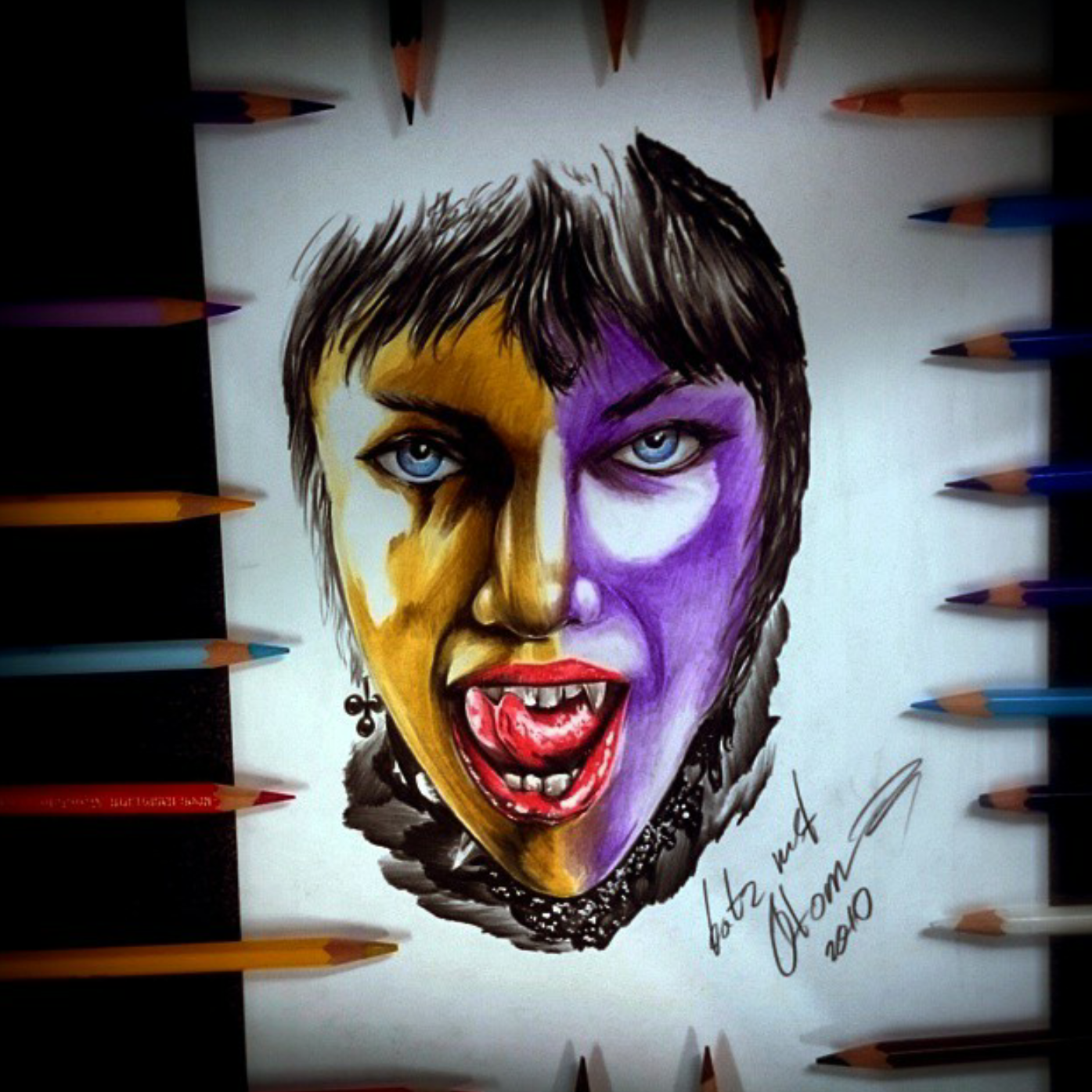 тату эскиз цветной портрет