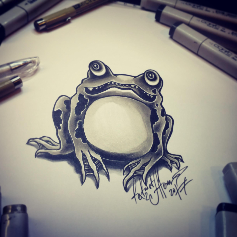 тату эскиз жаба