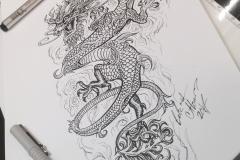 Тату эскиз дракон (0)
