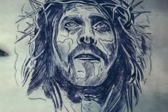 тату эскиз иисус
