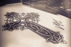 тату эскиз кельтский крест