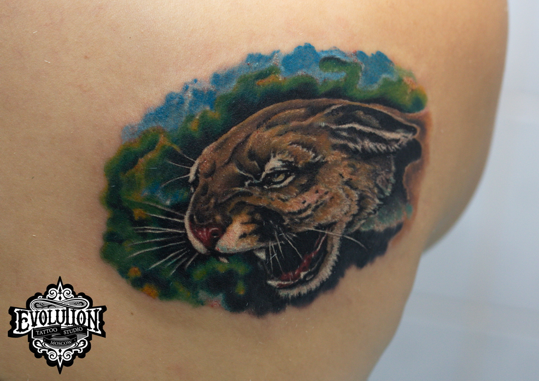 Tattoo-wild-cat