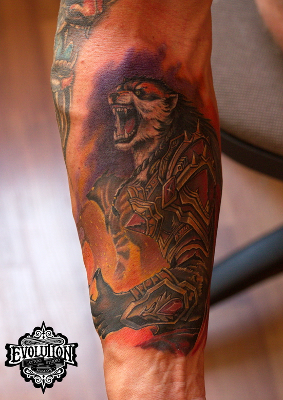 Tiger-wolf-tattoo