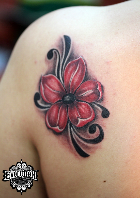 red-flower-tattooo