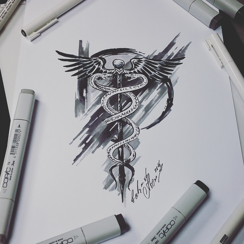 Татуировка посох