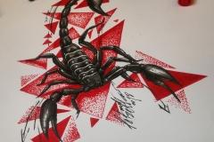 Эскиз скорпиона трешполька