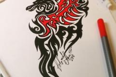 Тату эскиз дракон