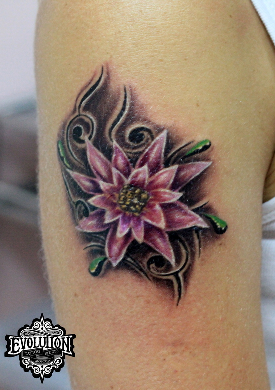 Abstract-flower-tattoos