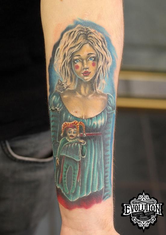 Clown-girl-tattoo