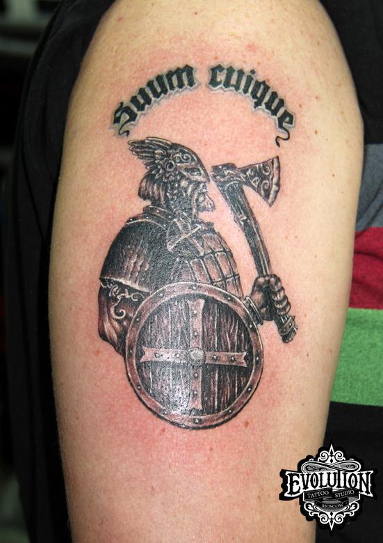 Viking-warior-tattoo