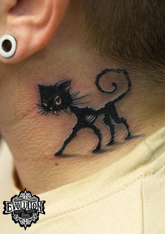 ZOMBIE-cat-tattoo