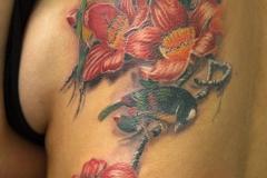Tattoo-birds-flowers